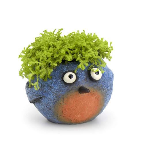 """Georgetown Home & Garden Happy Bluebird Blob Planter, 3.75"""""""