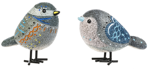 Ganz Painted Blue Bird Rock Figurines