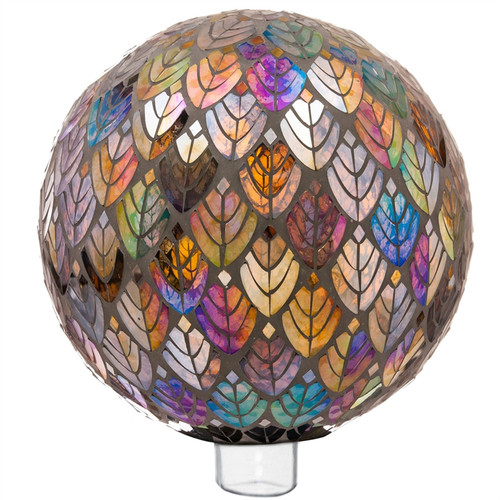 "Evergreen Baroque Splendor Mosaic Glass Gazing Ball, 10"""