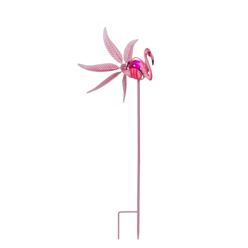 Evergreen Solar Flamingo Staked Wind Spinner, 36""