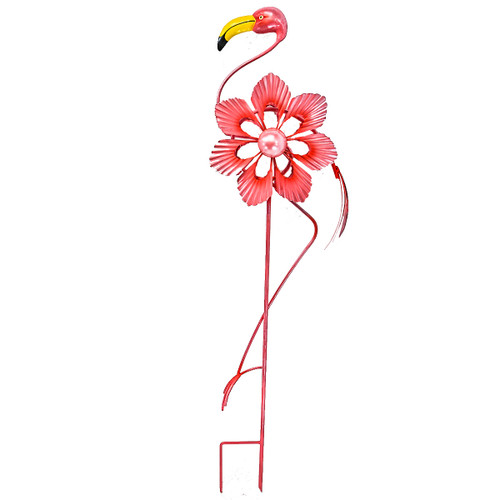 Direct International Metal Flamingo Double Wind Spinner
