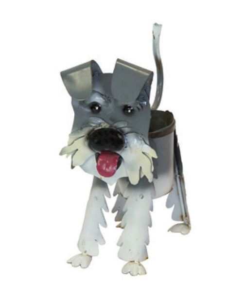 Rustic Arrow Metal Schnauzer Planter