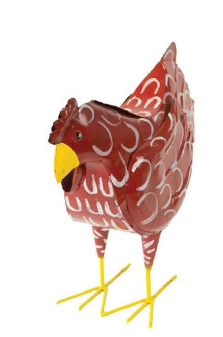Rustic Arrow Metal Red Hen