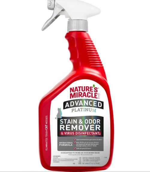 Nature's Miracle Advanced Platinum Cat Virus Disinfectant, 32 Oz.