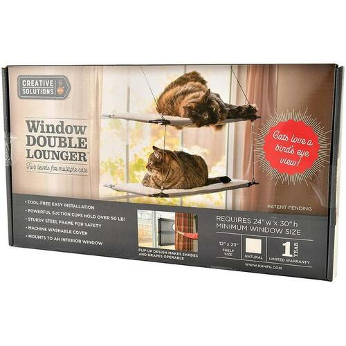 K&H Creative Solutions Double Window Cat Lounger