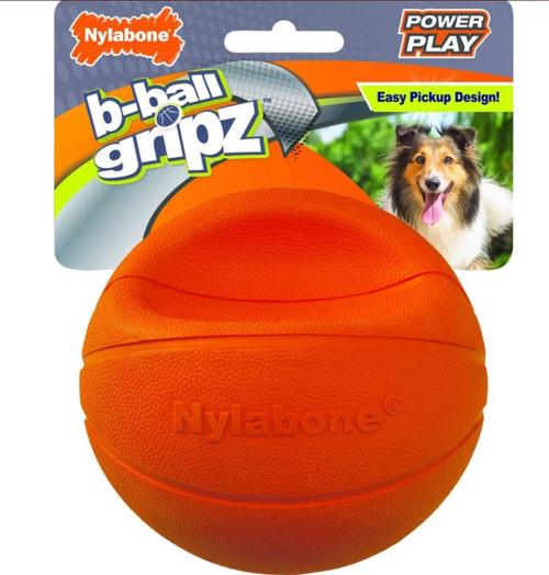 Nylabone Power Play Basketball Gripz Dog Toy, Large