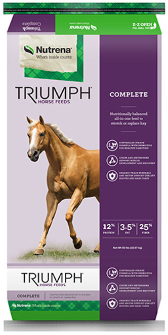 Nutrena Triumph Complete Pellet Horse Feed, 50 Pounds