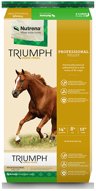 Nutrena Triumph Professional Pellet Horse Feed, 50 Pounds