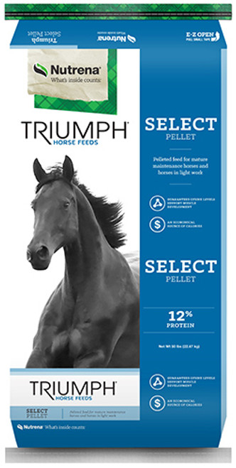Nutrena Triumph Select Pellet Horse Feed, 50 Pounds