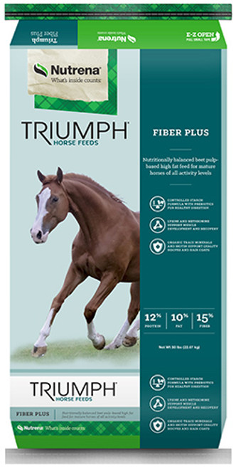 Nutrena Triumph Fiber Plus Textured Horse Feed, 50 Pounds