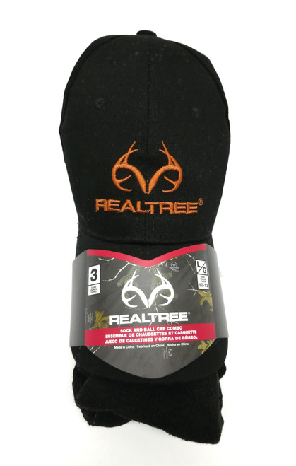 Realtree 3-pack Sock and Cap Combo