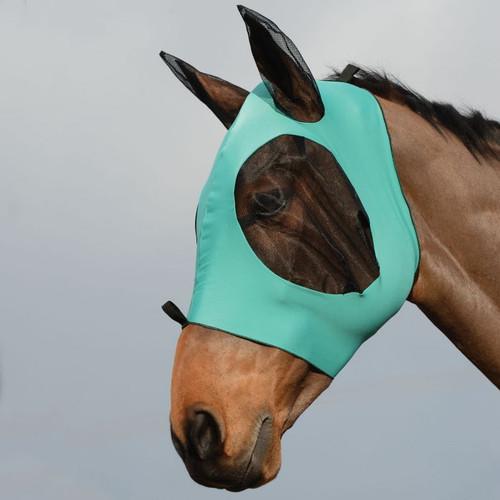 Weatherbeeta Stretch Bug Eye Saver With Ears, Turquoise/Black