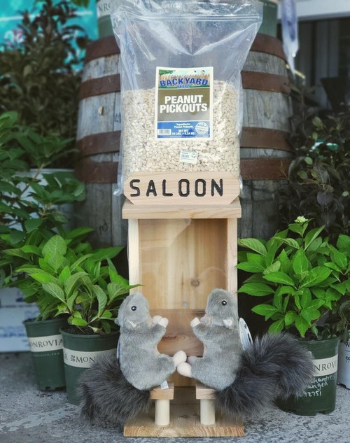 Backyard Seeds Saloon Squirrel Feeder