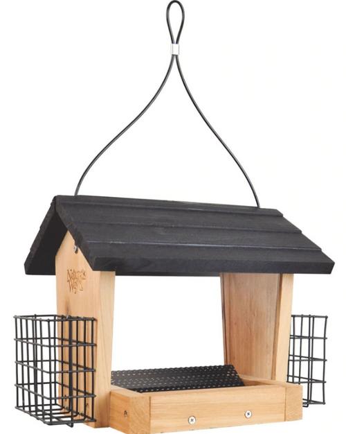 Nature's Way Cedar Hopper Feeder, 3 Quart Capacity