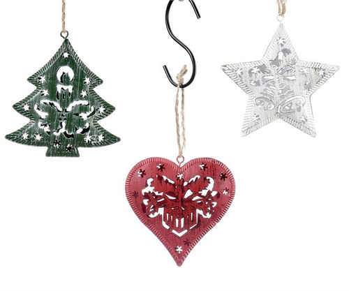 GiftCraft Metal 3D Ornament