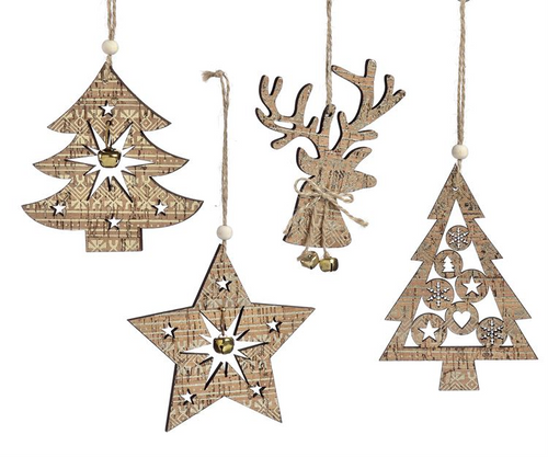 GiftCraft Plywood Cutout Ornament