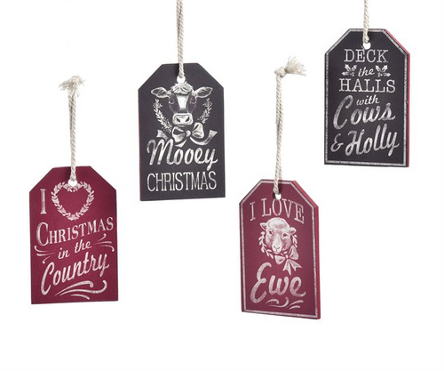 GiftCraft Farm Themed Tag Ornament
