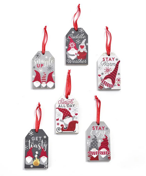 GiftCraft MDF Gnome Tag Ornament