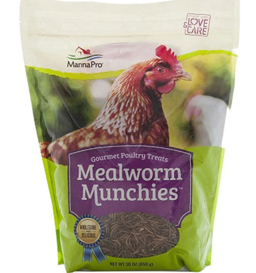 Manna Pro Mealworm Munchies Poultry Treat, 30 Oz. Bag