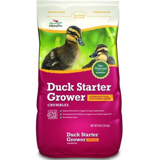 Manna Pro Duck Starter Grower Crumbles, 8 Lb. Bag