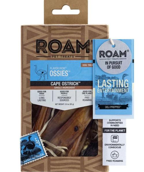 Roam Flavor Rich Ossies Dog Treats, 3 Oz.