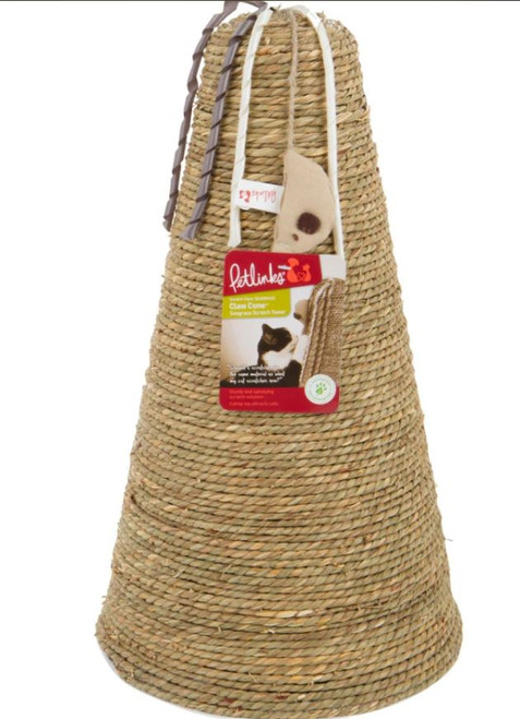 Petlinks Claw Cone Seagrass Cat Scratch Tower