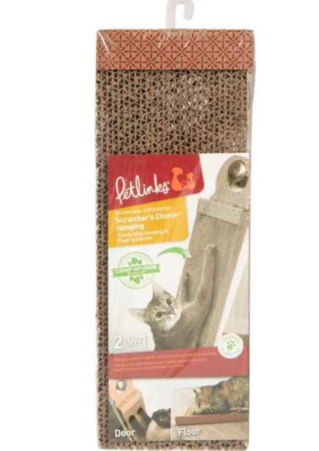 Petlinks Scratcher's Choice Corrugated Hanging & Floor Cat Scratcher