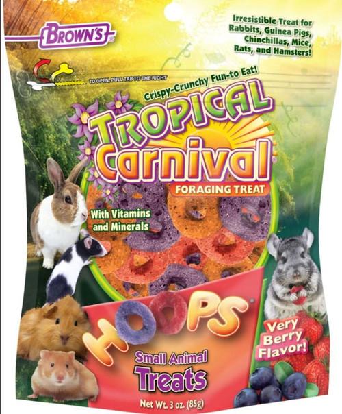 Brown's Tropical Carnival Hoops Small Animal Treats, 3 oz. Bag