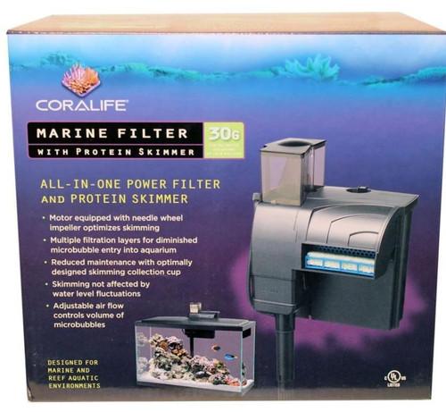 Coralife Marine Filter W/Protein Skimmer, 50 GPH