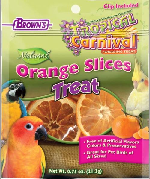 F.M. Brown's Tropical Carnival Naturals Orange Slices Bird Treats, .75 Oz.