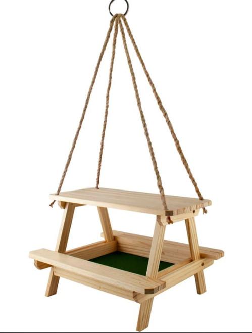 Audubon Lake & Cabin Picnic Table Platform Feeder