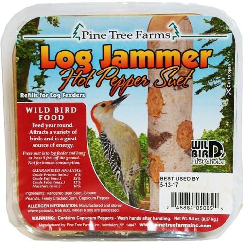 Pine Tree Farms Log Jammer Hot Pepper Suet, 9.4 Oz.-3 Pack