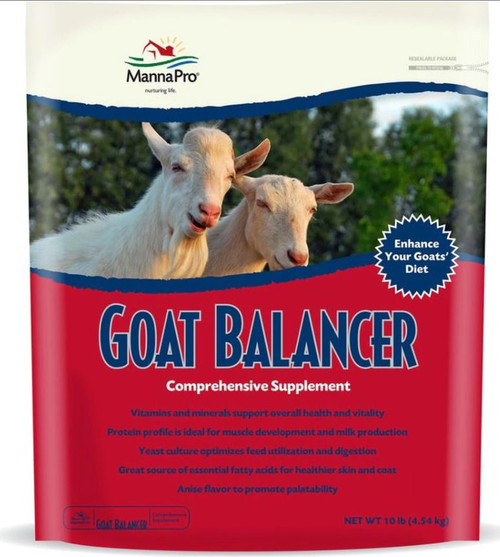 Manna Pro Goat Balancer Comprehensive Supplement, 10 Lbs.