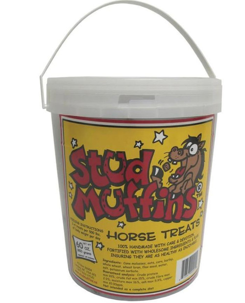 Stud Muffins Horse Treat Tub, 60 Oz.