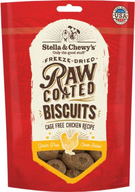 Stella & Chewy's Freeze-Dried Raw Coated Cage-Free Chicken Dog Biscuits, 9 Oz.