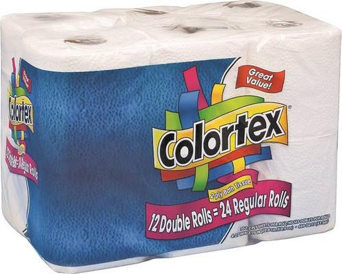 Colortex Bathroom Tissue, 12 Pack