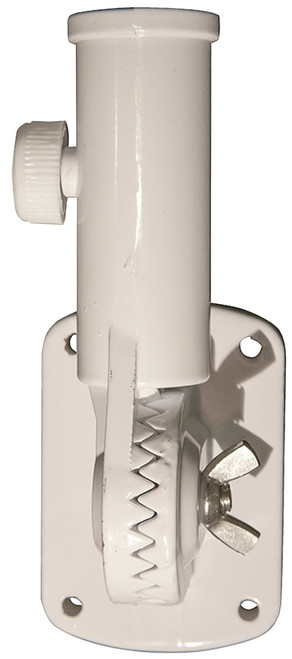 Valley Forge White Adjustable Aluminum Flag Pole Bracket, 1""