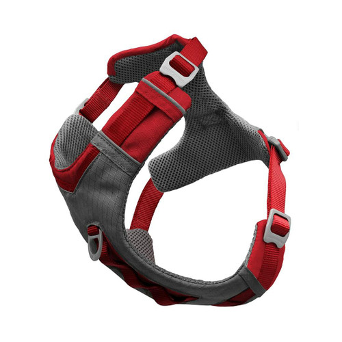 Kurgo Journey Air Dog Harness, Red/Grey