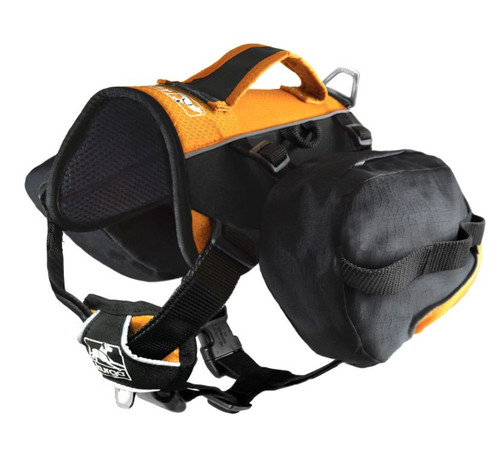 Kurgo Baxter Big Dog Backpack, Black/Orange