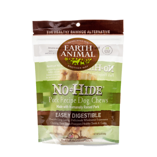 Earth Animal No-Hide Pork Wholesome Dog Chews