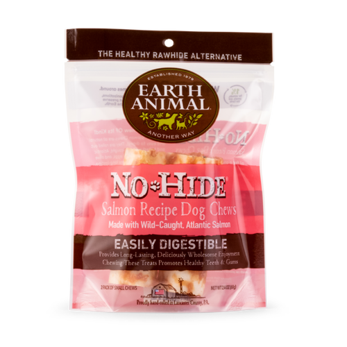 Earth Animal No-Hide Salmon Wholesome Dog Chews