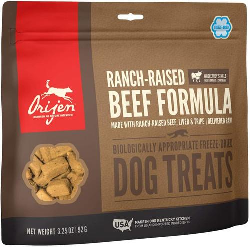 Orijen Freeze-Dried Ranch-Raised Beef Dog Treats, 3.25 Oz. Bag