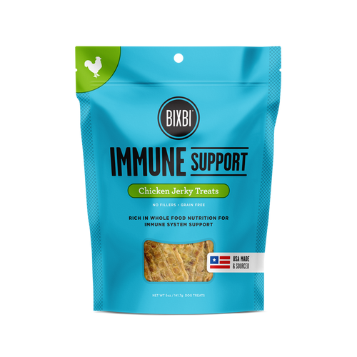 Bixbi Immune Support Chicken Jerky Dog Treats, 5 Oz. Bag