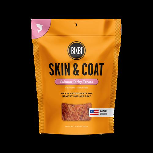 Bixbi Skin & Coat Salmon Jerky Dog Treats, 5 Oz. Bag