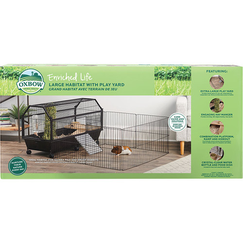 Oxbow Enriched Life Small Animal Large Habitat With Play Yard