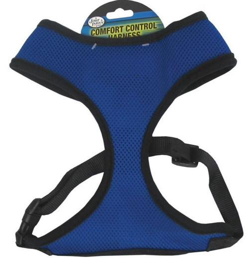 Four Paws Comfort Control Dog Harness, XL, Blue