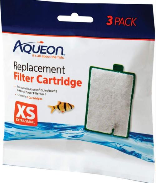Aqueon Quietflow Filter Cartridges, XS-3 Pk.