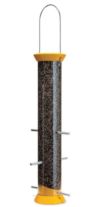 Droll Yankees New Generation Thistle Finch Feeder, Yellow