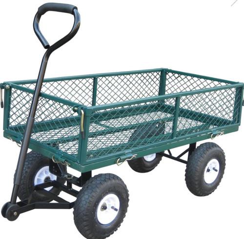 Bond Garden Wagon W/Fold Down Sides, Green