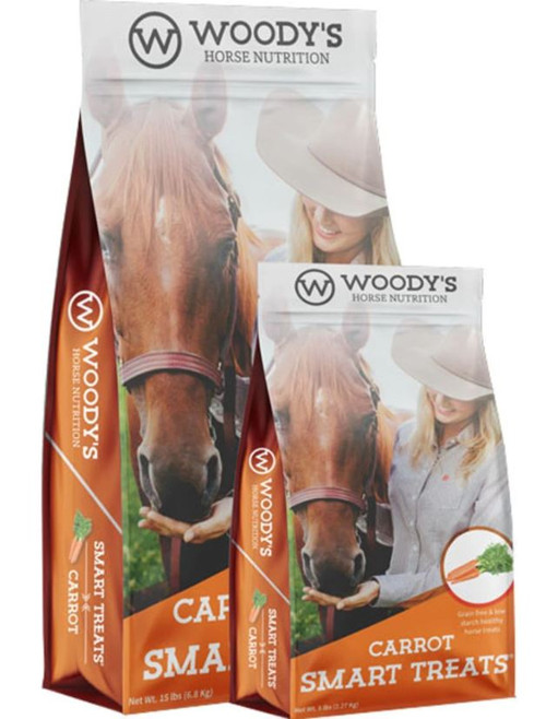 Woody's Horse Nutrition Smart Treats, Carrot